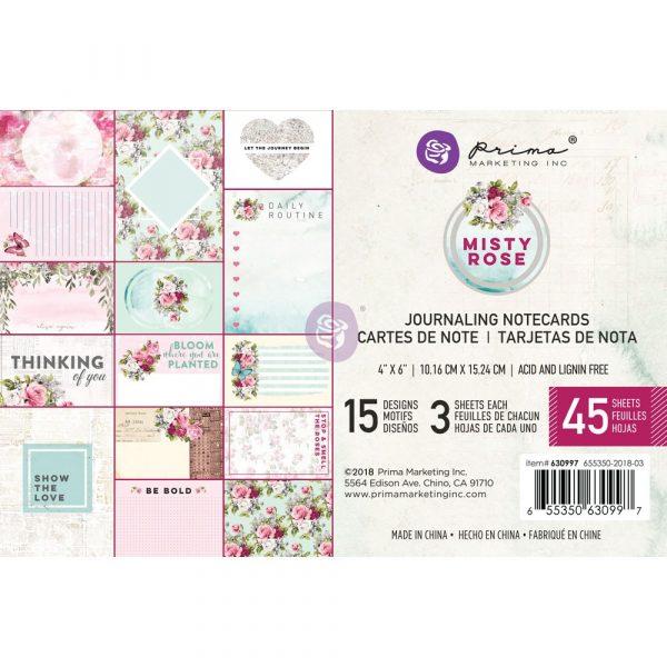 Misty Rose 4x6 Journaling Cards