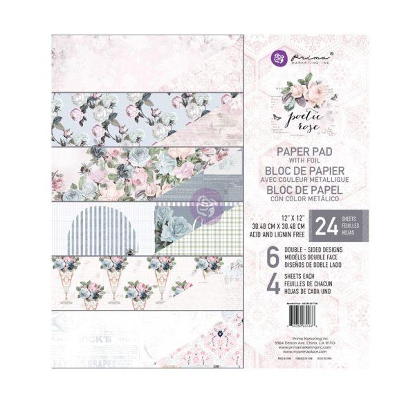 12x12 Poetic Rose Paper Pad