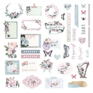 Poetic Rose Ephemera & Stickers