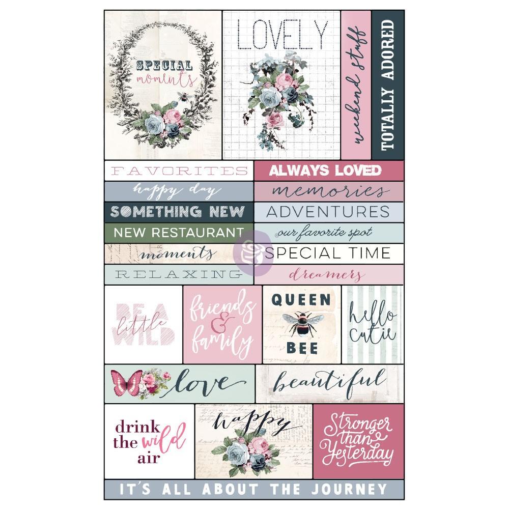 Poetic Rose Ephemera & Stickers