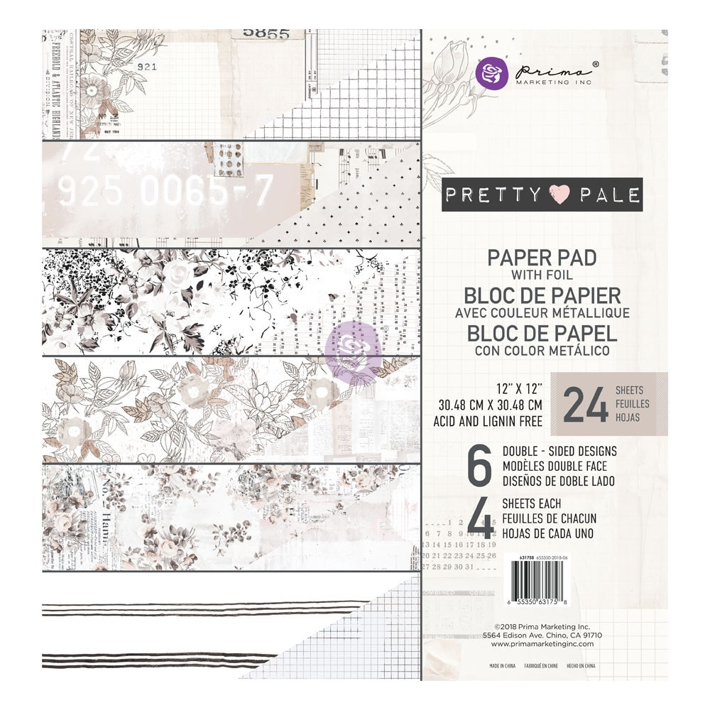 Pretty Pale 12x12 Paper Pad