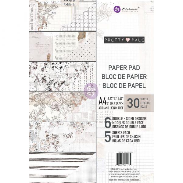 Pretty Pale A4 Paper Pad