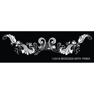 Redesign Adhesive Silk Screen Stencil - Delicate Fleur Scroll