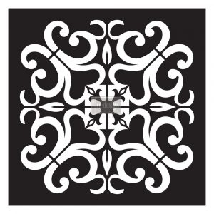 Redesign Paver Stencil - Valentina