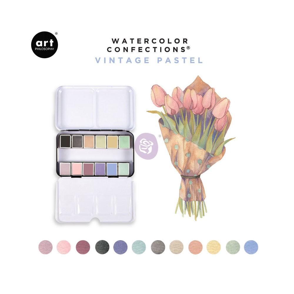 Prima Watercolor Confections Watercolor Pans 12//Pkg-Essence