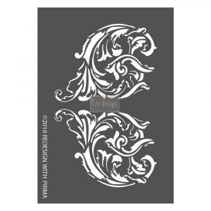 Redesign 3D Stencil - Giulia Scrolls