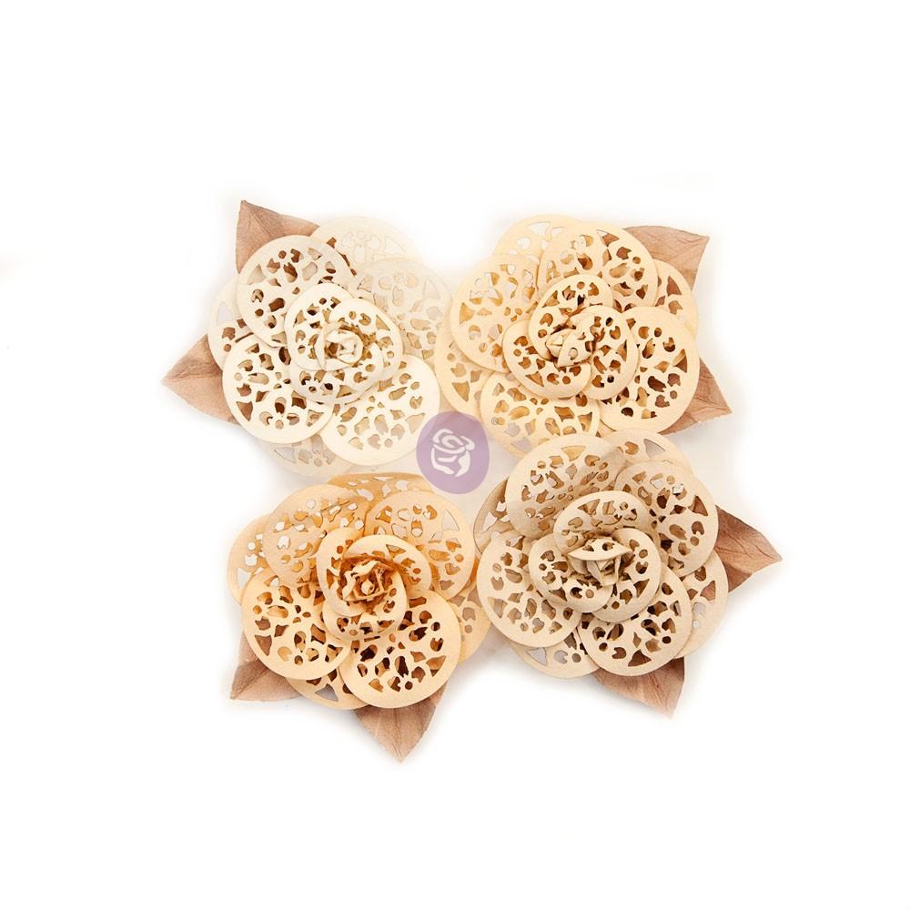 Pretty Pale Flowers - Organic Elegance