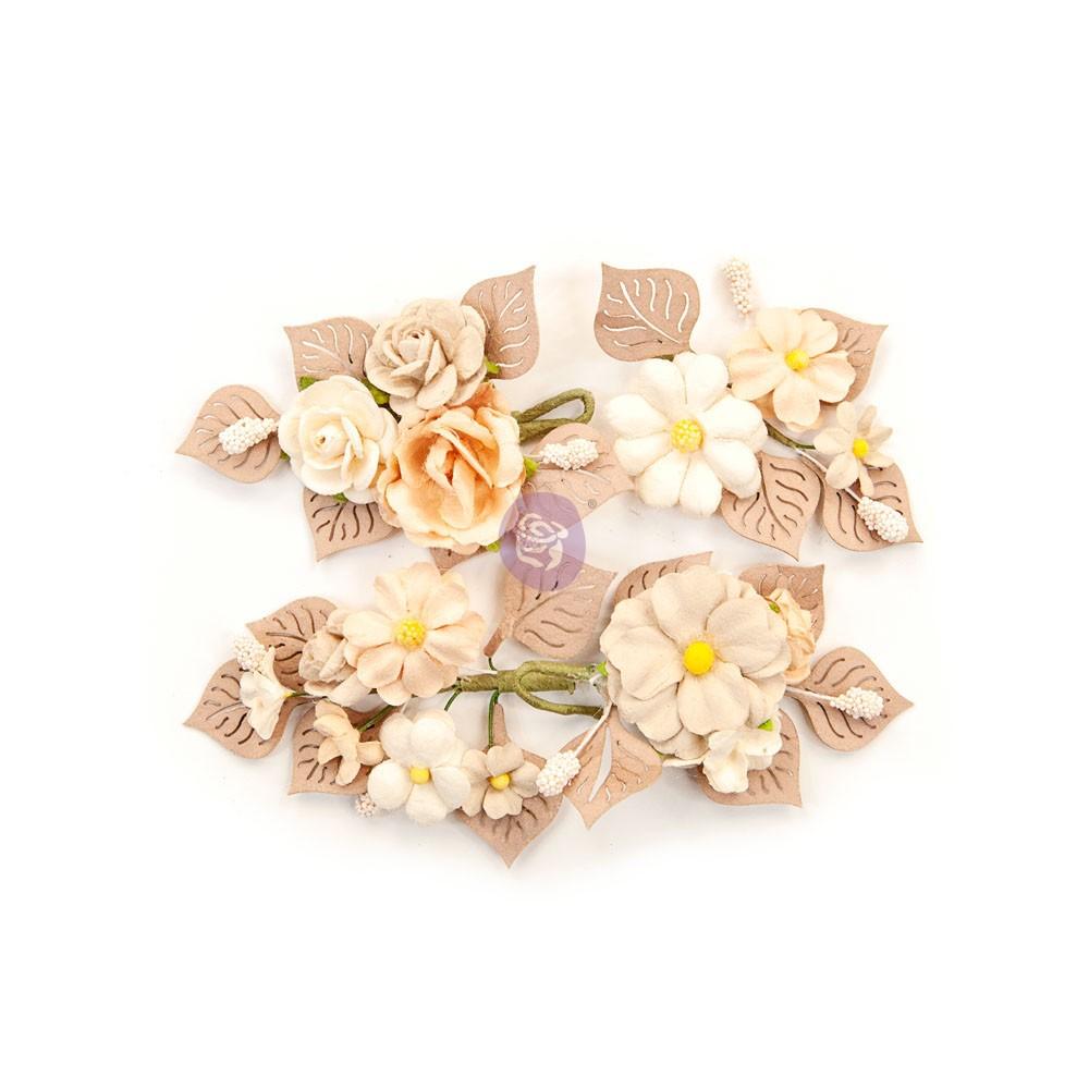 Pretty Pale Flowers - Rustic Floral