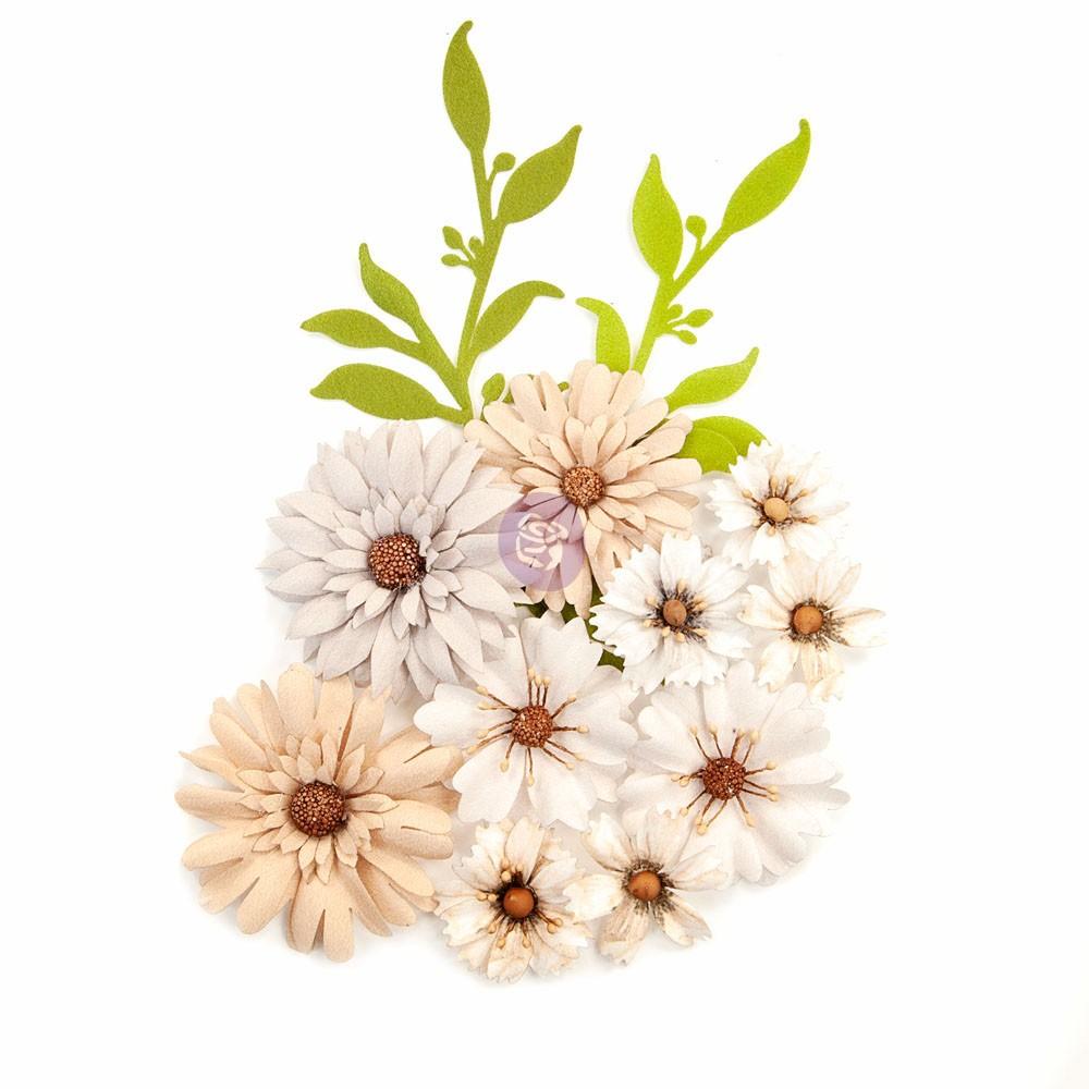 Pretty Pale Flowers - Floral Landscape