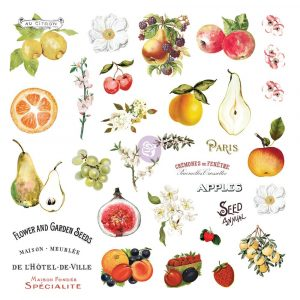 Fruit Paradise Ephemera With Stickers
