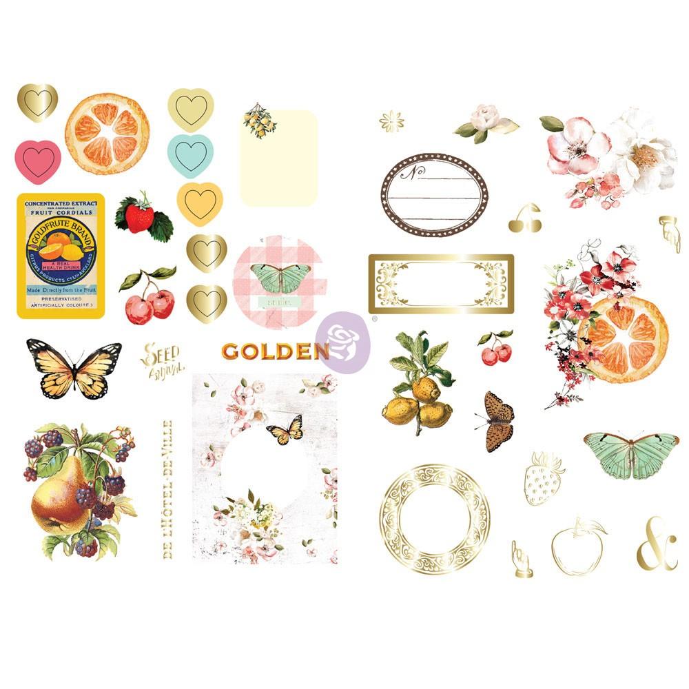 Fruit Paradise Ephemera With Stickers