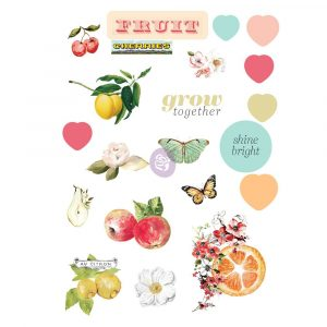 Fruit Paradise Puffy Stickers