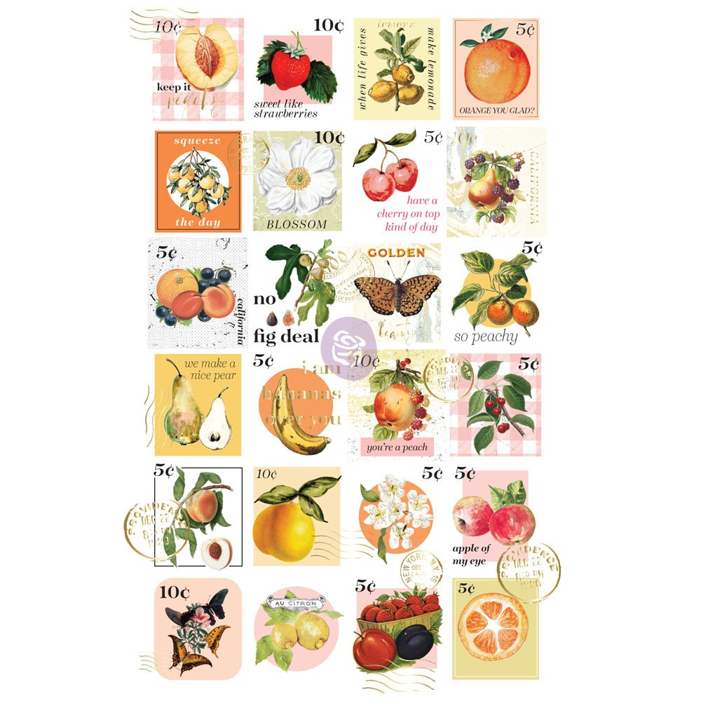 Fruit Paradise Postage Stamps Stickers