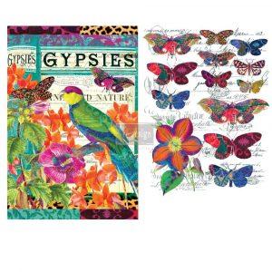 Redesign Decor Transfer - Boho Bird Butterfly
