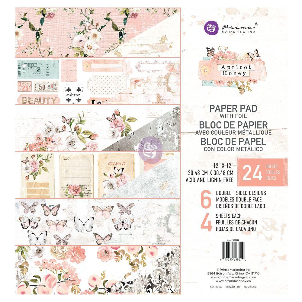 12x12 Apricot Honey Paper Pad