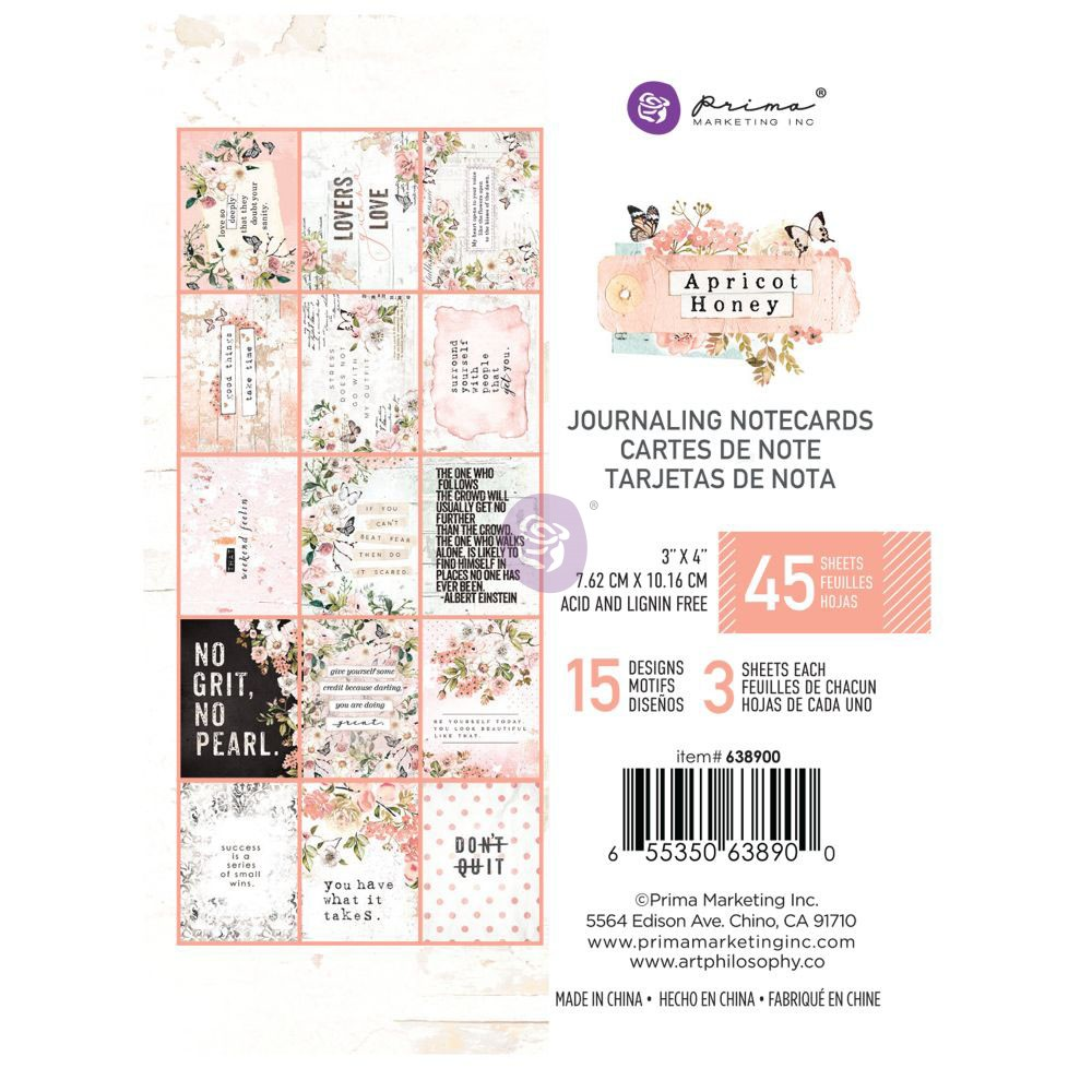"""Prima Apricot Honey Foiled Double-Sided Cardstock 12X12/"""" Scrappapier 30x30 cm"""