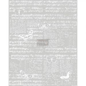 Re.Design Decor Transfers - Music & The Butterflies