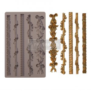 """Redesign Decor Moulds® - Sicilian Borders - 5"""" x 8"""", 8mm thickness"""