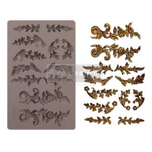 "Redesign Decor Moulds® - Delicate Flora - 5"" x 8"", 8mm thickness"