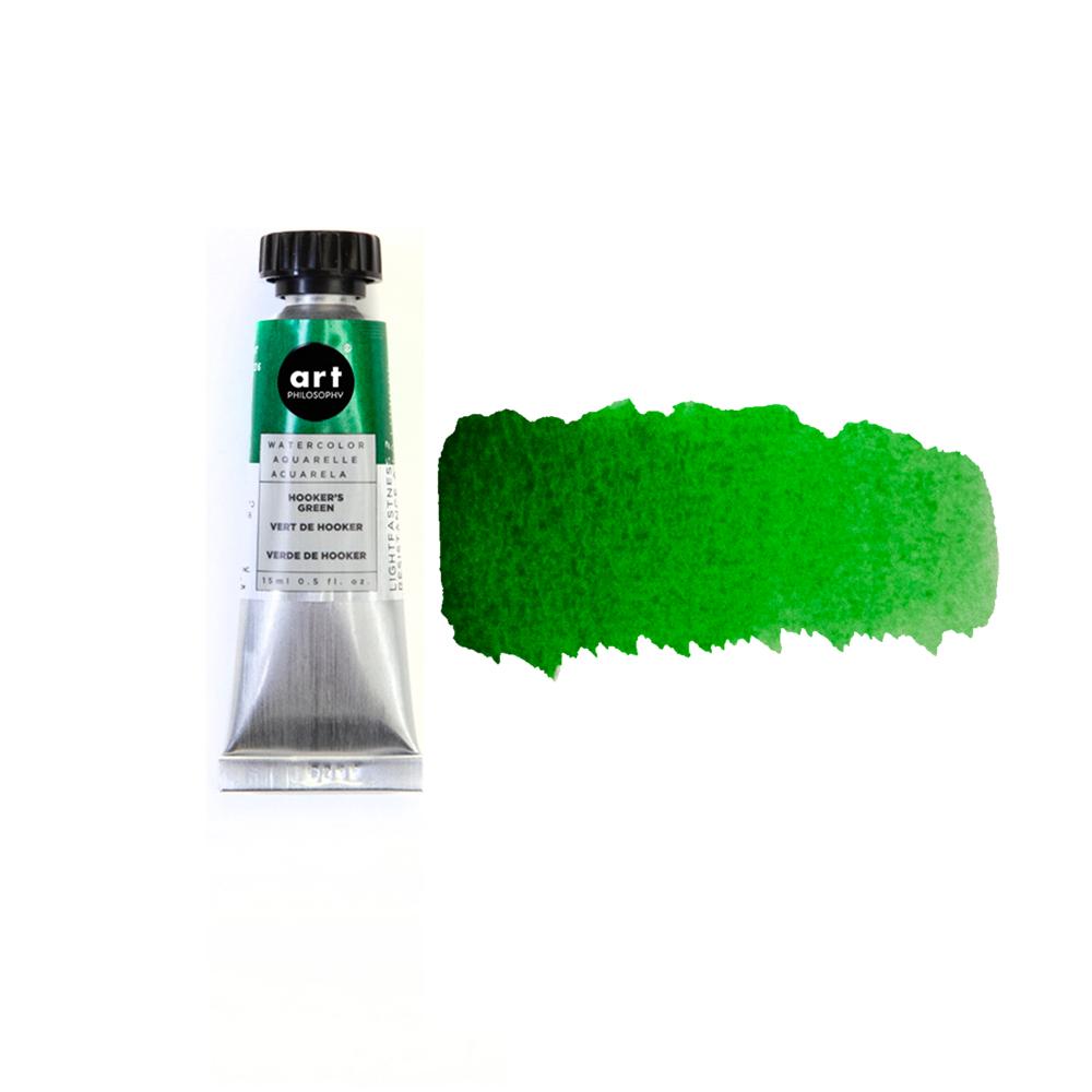 Art Philosophy® Artist Grade Watercolor Tubes - Hooker's Green