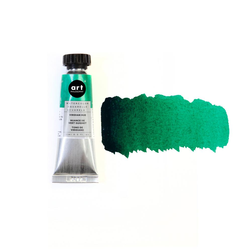 Art Philosophy® Artist Grade Watercolor Tubes - Viridian Hue