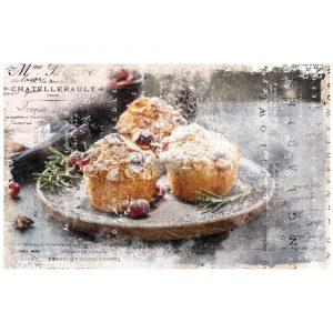 """Découpage Décor Tissue Paper - Warm Desserts - 2 sheets (19"""" x 30"""")"""