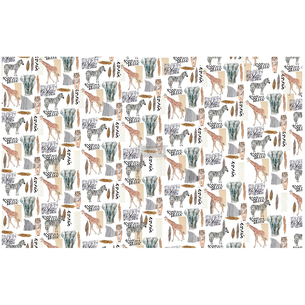 """Découpage Décor Tissue Paper - Safari - 2 sheets (19"""" x 30"""")"""