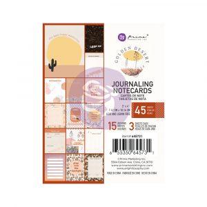 Golden Desert Collection 3X4 Journaling Cards  - 45 sheets