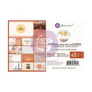 Golden Desert Collection 4X6 Journaling Cards  - 45 sheets
