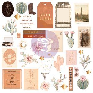 Golden Desert Collection Ephemera  - 40 pcs w/ foil details