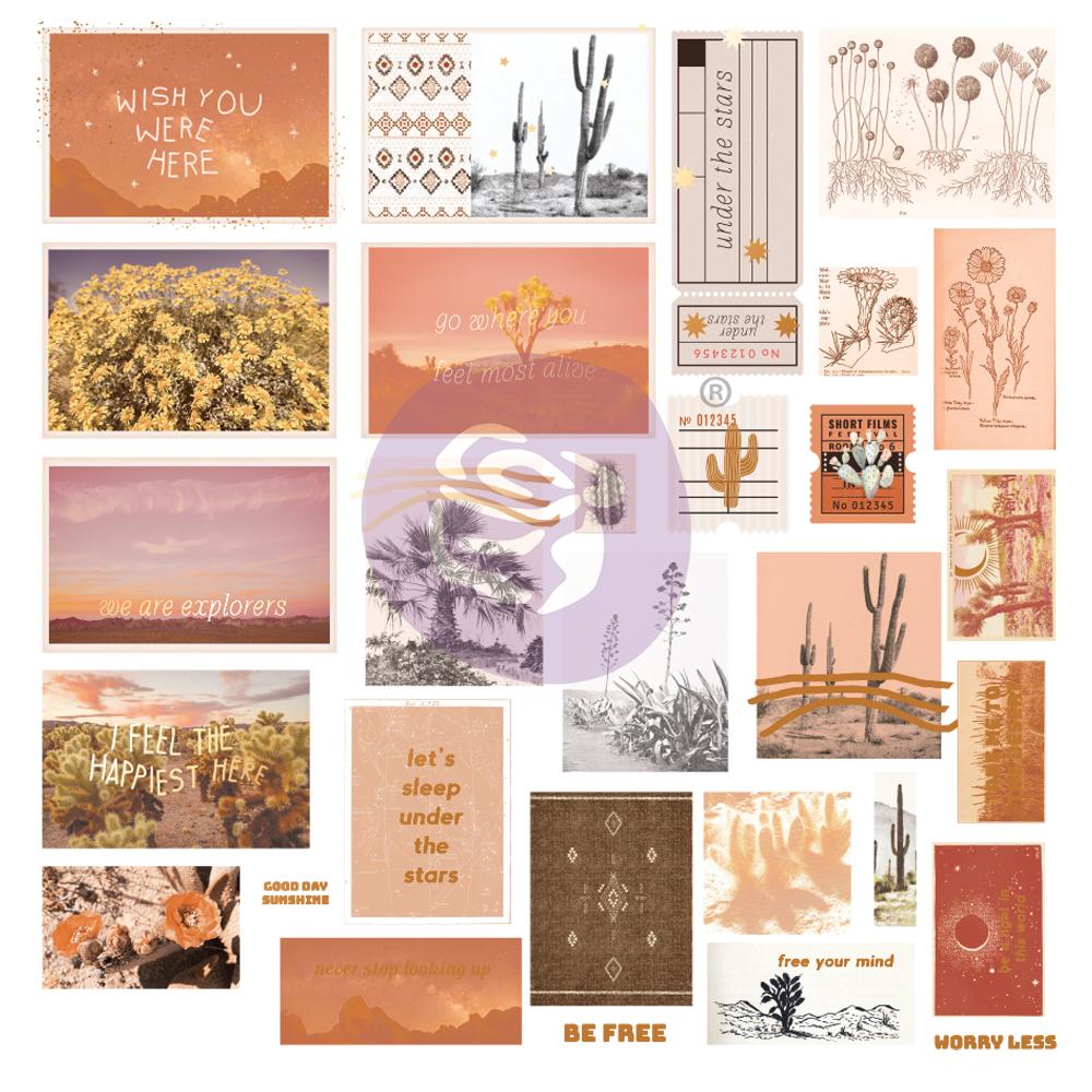 Golden Desert Collection Ephemera  - 30 pcs w/ foil details