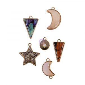 Golden Desert Collection Metal Embellishments  - 6 pcs
