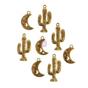 Golden Desert Collection Metal Embellishments  - 8 pcs / 15.-2.5in