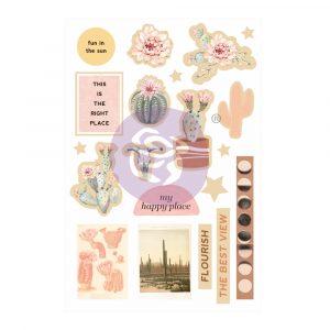 Golden Desert Collection Wood Embellishments  - 15 pcs