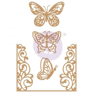 Chipboard Diecut - Butterfly Flight - 4 pcs,  1.8-4.6
