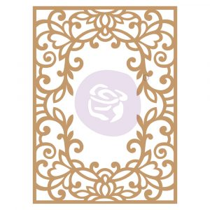 Chipboard Diecut - Vine Frame -  1 pc,  6.8