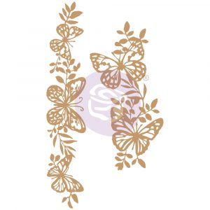Chipboard Diecut - Butterfly Borders -  2 pcs,  5.5-7.6