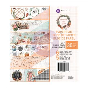 "Pumpkin & Spice Collection 6x6 Paper Pad - 6"" x 6.5"", 30 sheets"