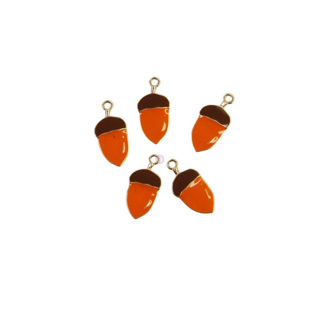 Pumpkin & Spice Collection Enamel charms - 5 pcs
