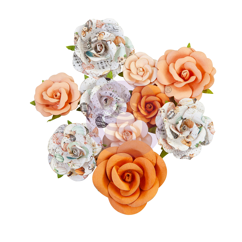 Prima Flowers® Pumpkin & Spice Collection - Orange Sunset - 10pcs,  1-2.5