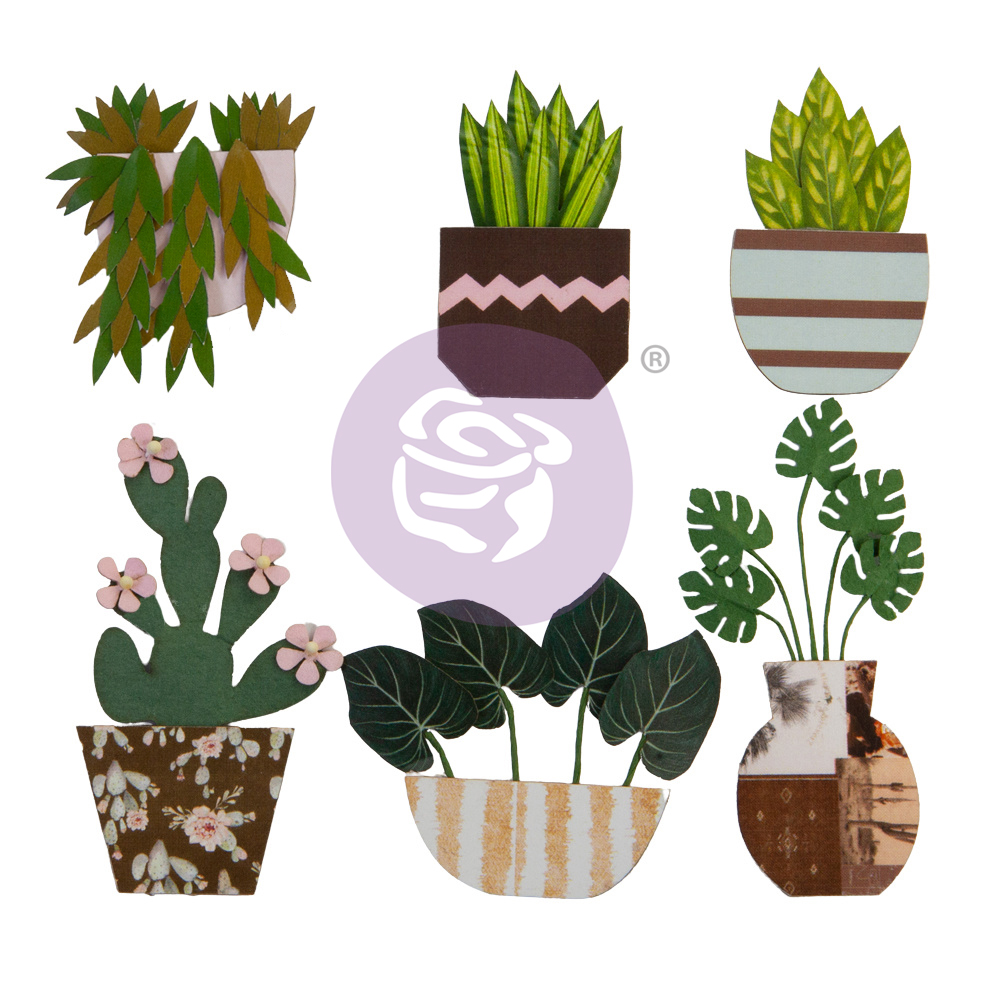 Prima Flowers® Golden Desert Collection - Cactus - 6 pcs / 1-2.5in
