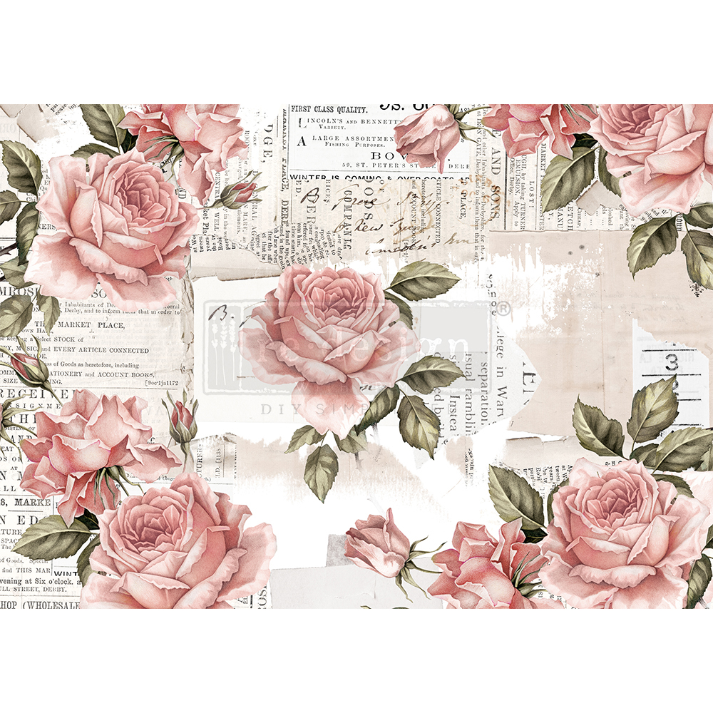 """Redesign Decor Rice Paper - Floral sweetness - 11.5"""" x 16.25"""""""