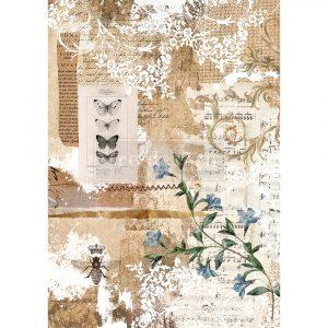 "Redesign Decor Rice Paper - Botanical sonata - 11.5"" x 16.25"""