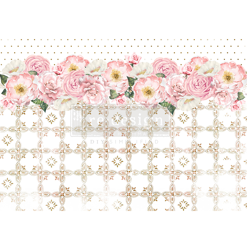 """Redesign Decor Rice Paper - Tranquil bloom - 11.5"""" x 16.25"""""""