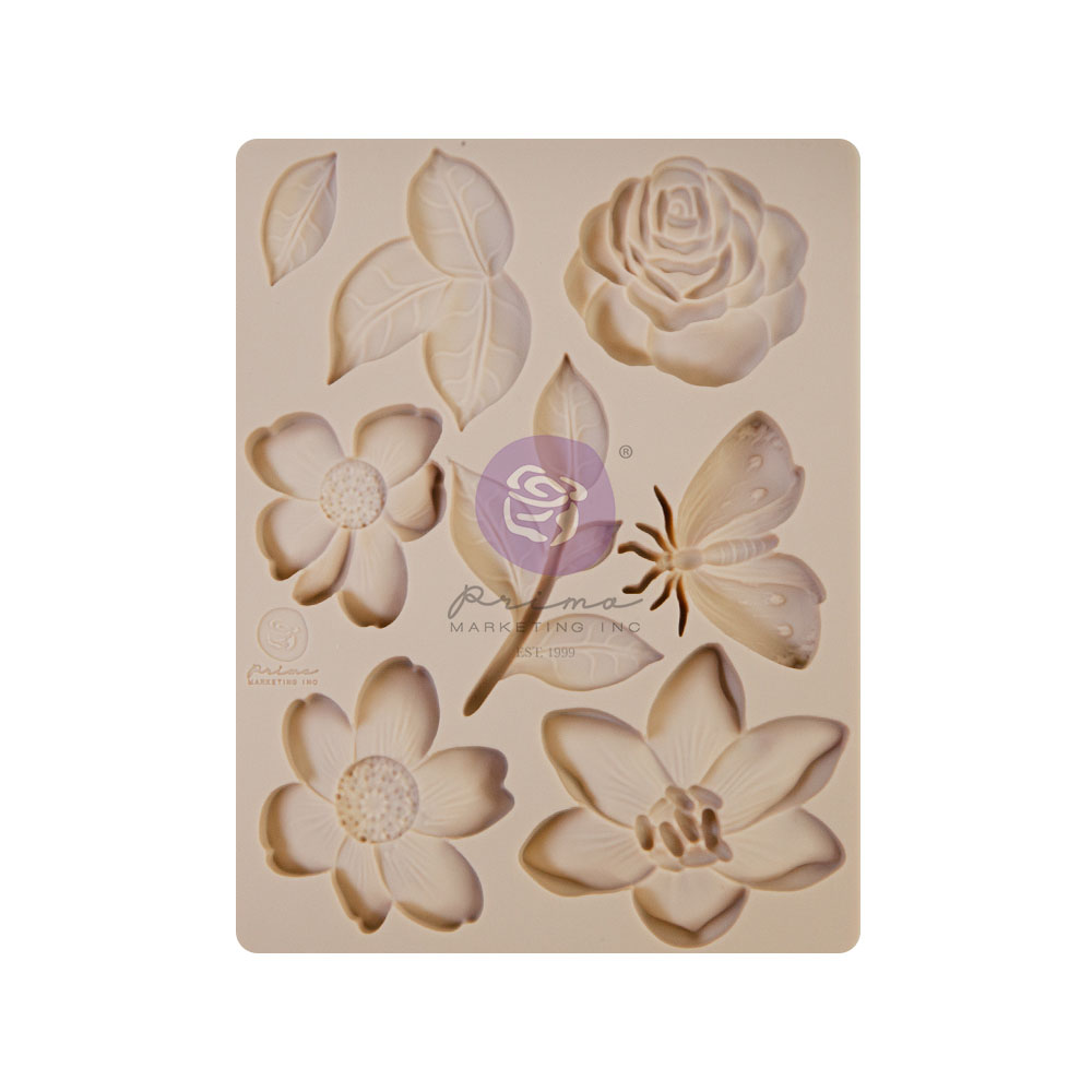 Watercolor Floral Collection Silicone Mould - 1 pc, 3.5x4.5 in