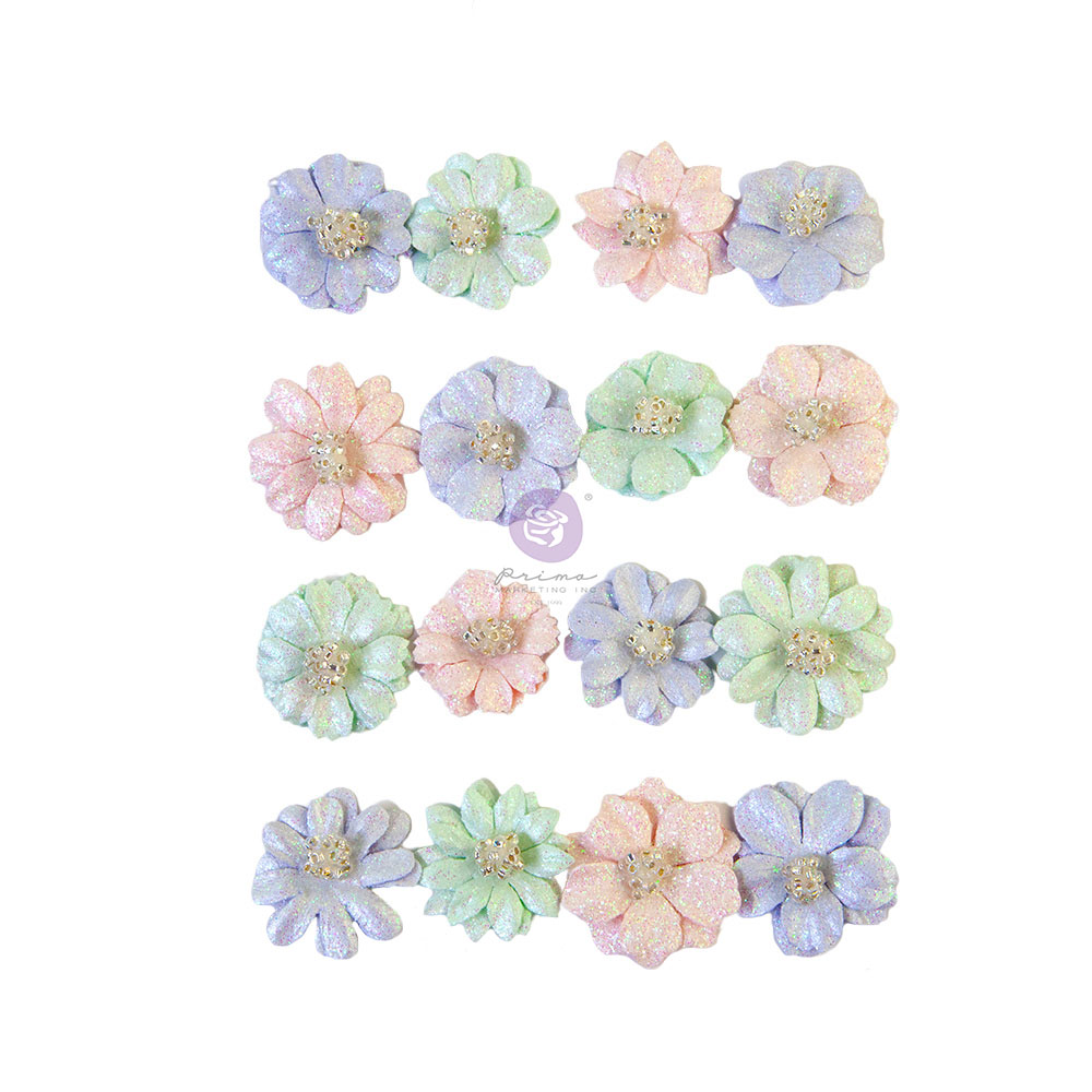 Prima Flowers® Watercolor Floral Collection - Pretty Tints - 16 pcs / 0.8 in