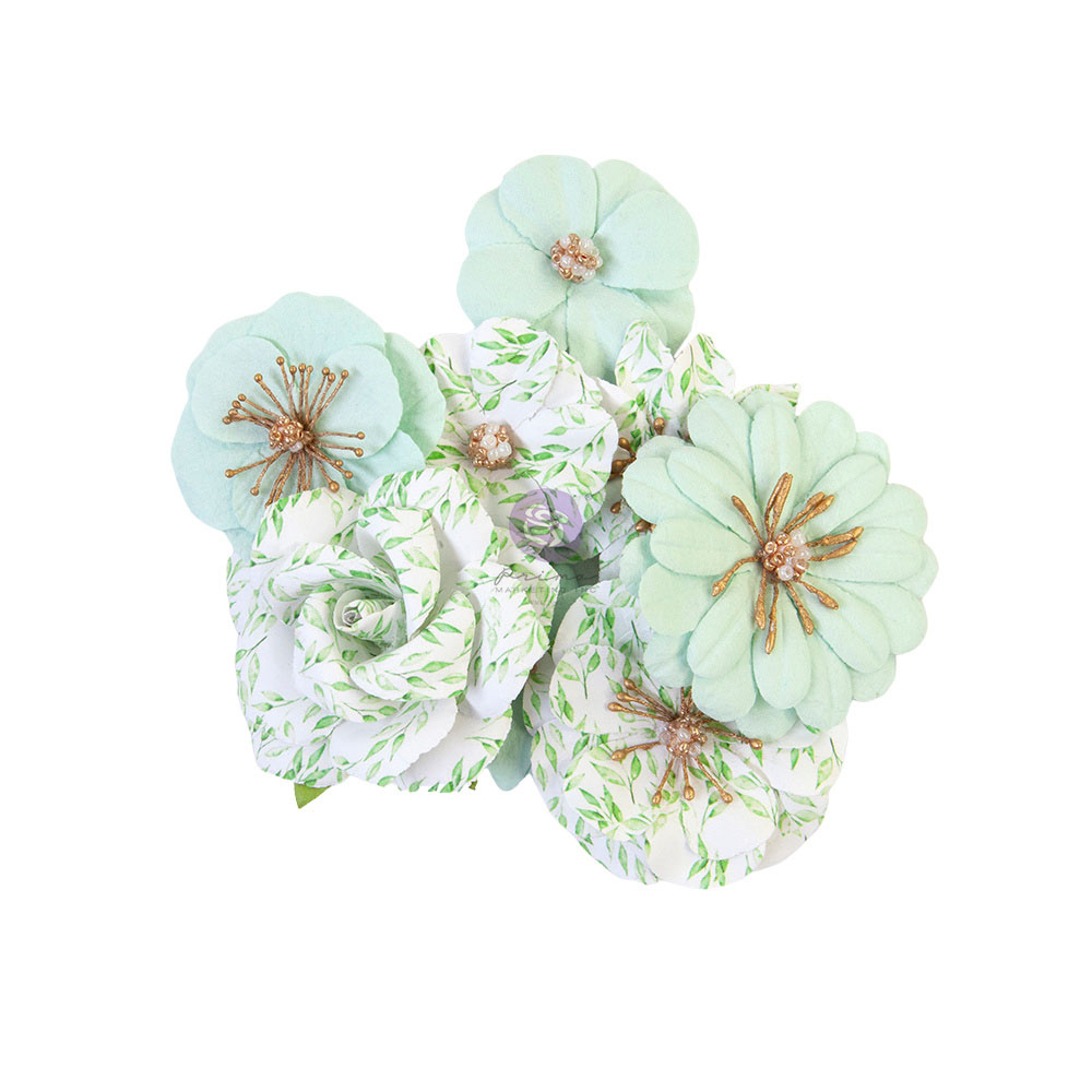 Prima Flowers® Watercolor Floral Collection - Minty Water -  8/ 1.5-2.5 in