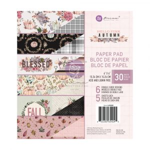 Hello Pink Autumn Collection 6x6 Paper Pad - 30 sheets