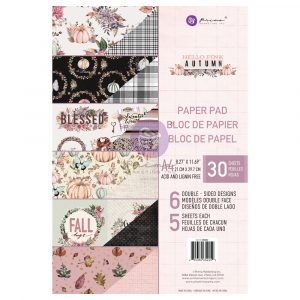 Hello Pink Autumn Collection A4 Paper Pad - 30 sheets