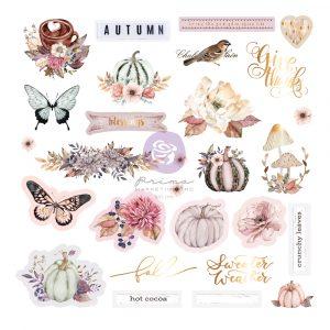 Hello Pink Autumn Collection Ephemera - 28 pcs w/ foil detail